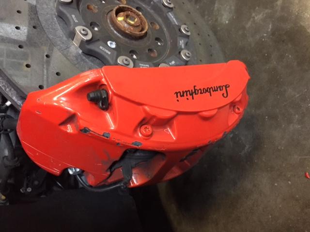 WARNING!  Never buy Kartier Forged Wheels! Lamborghini Kartier Wheels Fall Apart-damagedbrakes.jpg